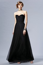 Sweetheart A-Line Bridesmaid Dress With Knot Detail And Sequins