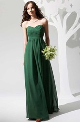 Simple Sweetheart A-Line Chiffon Bridesmaid Dress With Ruching