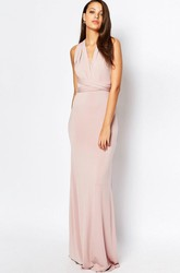 Sheath Ruched V-Neck Sleeveless Chiffon Bridesmaid Dress With Straps