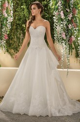 Fabulous Sweetheart A-Line Gown With Lace Bodice