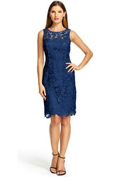 Mini Sheath Bateau Neck Appliqued Sleeveless Lace Bridesmaid Dress With Keyhole