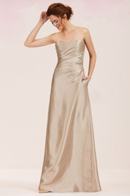 Sweetheart Floor-Length Bridesmaid Dress With Pockets And Keyhole Back