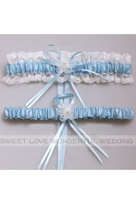 e983850e9 Western Style Flowers Lace Bow Elastic Lace Bridal Garter Within 16-23inch  ...