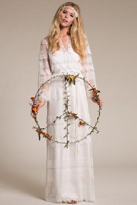 Vintage Bohemian Wedding Dress Ucenter Dress