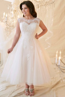 Lace Wedding Gown For Chubby Bride