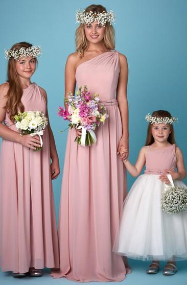 e271570fdb38 One Shoulder Junior Bridesmaid Dresses | Affordable Junior ...