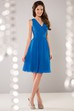 Sleeveless V-Neck Knee-Length Chiffon Bridesmaid Dress With Lace Back
