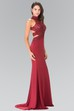 Sheath Long High Neck Sleeveless Jersey Backless Dress With Beading And Appliques