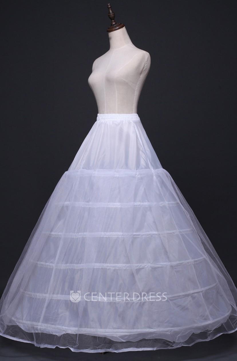 New Skirt Petticoat With Elastic Waist 6 Steel Ring Plus Mesh